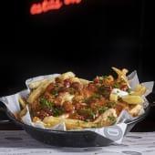 1/2 Ración Chili cheese fries