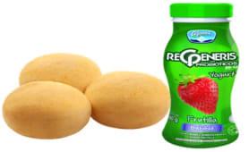 3 Panes De Yuca+ Yogurt Regeneris Frutilla 180 Gr