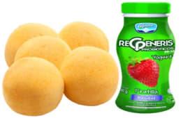 5 Panes De Yuca+Yogurt Regeneris Frutilla 180 Gr