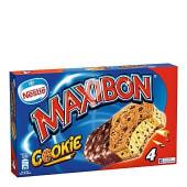 Helado sandwich de vainilla con cookies