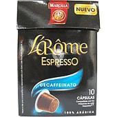 Cafe Descafeinado Cápsulas L'Arôme Espresso - Intensidad 6