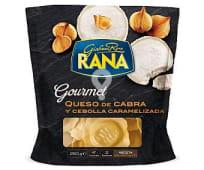 Ravioli de queso de cabra y cebolla caramelizada gourmet