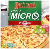 Pizza micro de jamón y queso
