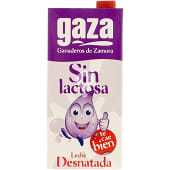 Leche desnatada sin lactosa