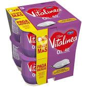 Yogur desnatado 0% materia grasa, natural edulcorado
