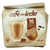 Cafe capsula cafe con leche (compatible cafetera dolce gusto*(marca de grupo societe des produits nestle,sa. no relacionada con cocatech,sl))