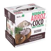 Bebida de arroz y coco sin azúcares añadidos