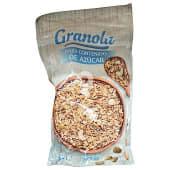 Granola de cereales y frutos secos bajo en azúcar