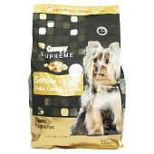 Comida perro seca con pollo fresco cebada y arroz supreme light senior razas pequeñas