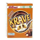 Almohadillas de cereales rellenos de chocolate y avellanas