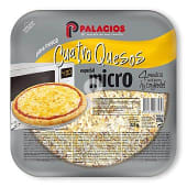 Pizza 4 quesos especial micro