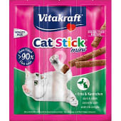 Snack mini para gato con pato y conejo pack 3 envase 6 g
