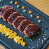 Tataki de atún al carbón