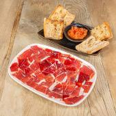 Tabla de jamón ibérico + Pan cristal con tomate