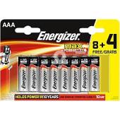 Pila Max +power AAA (lr3) blister 8 unidades + 4 gratis