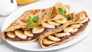 ბლინი (შოკოლადით და ბანანით)