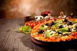 პიცა მარგარიტა ლორით