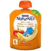 Bolsita de fruta (manzana, plátano y avena) para bebés a partir de 6 meses