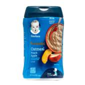 Cereal Para Bebé Geber De Avena Manzana Y Melocotón Con Probioticos, 8 Onzas