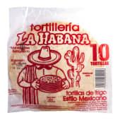 Tortillas De Trigo 10 Uni La Habana, 454 Gramos