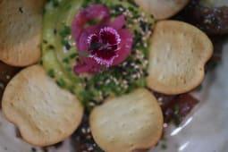 Tartar de atún rojo con guacamole