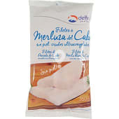 Filetes de merluza del Cabo sin piel crudos bolsa 360 g