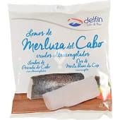 Lomos de merluza del Cabo con piel crudos bolsa 400 g