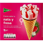 conos de helado sabor a nata y fresa estuche 720 ml