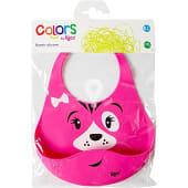Colors babero de silicona de animales en colores surtidos +6 meses blister 1 unidad