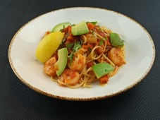 Spaguetti di semola con langostinos