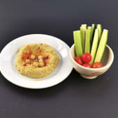 Hummus casero con crudités de verdura