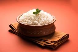 Steamed basmati rice