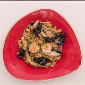 Локшина рисова з куркою та креветками (350г)
