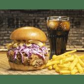 Crunchy Burger + Patatas fritas