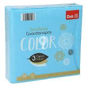 Servilletas azules 3 capas 33x33 cm paquete 50 uds
