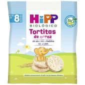 Tortitas de arroz biológico ideal como snack para los primeros dientes