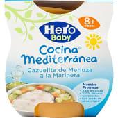 Tarrito cazuelita de merluza a la marinera Cocina Mediterránea