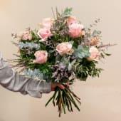 Ramo romántico 9 Rosas rosadas