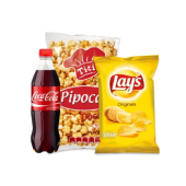 Pack Snacks (Pipocas 115g + Lay's 45g + Cola 50cl)