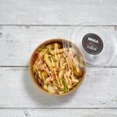 Ensalada de pasta y bonito con mayonesa de kimuchy