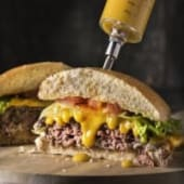 Single Top Cheese Burger 150 grs