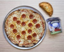 Pack Pizza + Helado + Empanada
