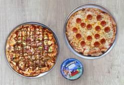 Pack 2 Pizzas + Helado