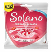 Caramelos sabor fresa y nata bolsa 99 gr