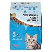 Comida de gato croquetas de salmón, atún y verduras