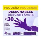 Guantes desechables nitrilo talla pequeña