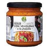 Salsa de tomate con verduras a la parrilla
