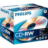 Philips CD-RW 700MB, 80 min, 4-12x speed, 1 pezzo
