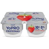 Yogur proteínas sabor a fresa 0% M.G pack 4 unidades 130 gr
