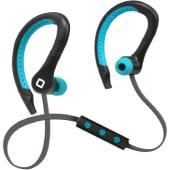 SBS Auricolari stereo Bluetooth Sport Runway 4 per iPhone, smartphone e cellulari, colore azzurro